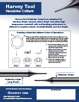 Harvey Tool Flyer Hexalobe Cutters