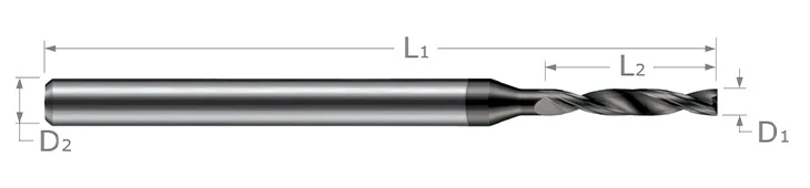 Miniature High Performance Drills - Flat Bottom Drill