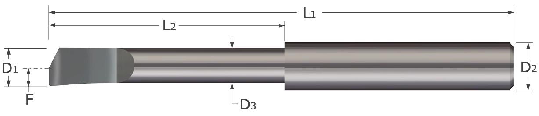 Standard - Boring Tools - Helical Back Rake - Corner Radius