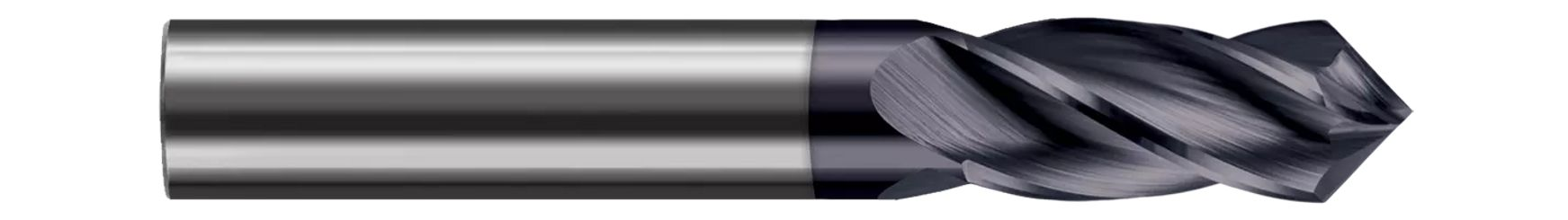 Drill/End Mills - Helical Tip - 4 Flute