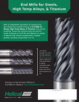 Helical Flyer End Mills for Steels, High Temp Alloys, & Titanium