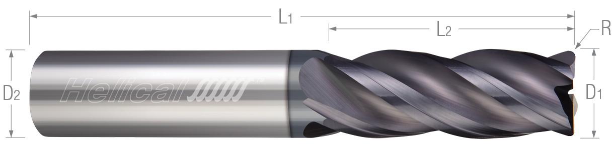 4 Flute, Corner Radius - Variable Pitch - Metric (Aplus)