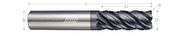 5 Flute, Corner Radius - Chipbreaker Rougher, Variable Pitch (Aplus)