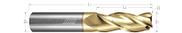3 Flute, Corner Radius - 35° Helix