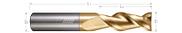 2 Flute, Square - 45° Helix