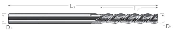End Mills for Plastics - Finishers - Square Downcut - 3 Flute - High Helix