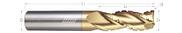 3 Flute, Corner Radius - 35° Helix, Variable Pitch, Chipbreaker Rougher