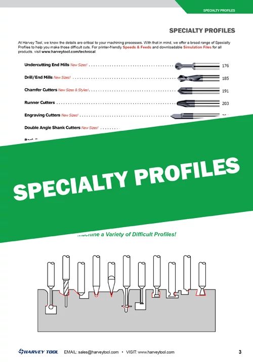 Specialty Profile Tools