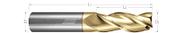 3 Flute, Square - 35° Helix