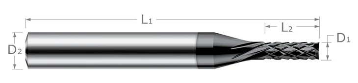 End Mills for Composites - Diamond Cut - End Mill Style