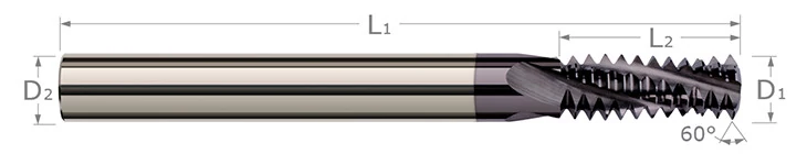 Thread Milling Cutters - Multi-Form - N.P.T. Threads