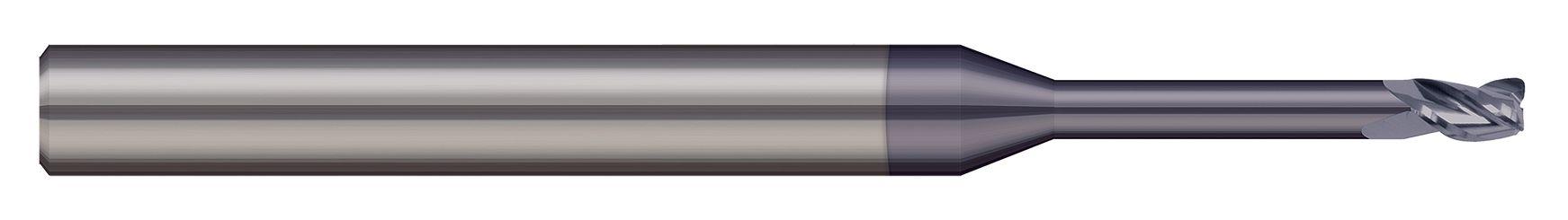 End Mills for Steels & High Temperature Alloys- Corner Radius -2 & 3 Flute - Long Reach, Stub Flute