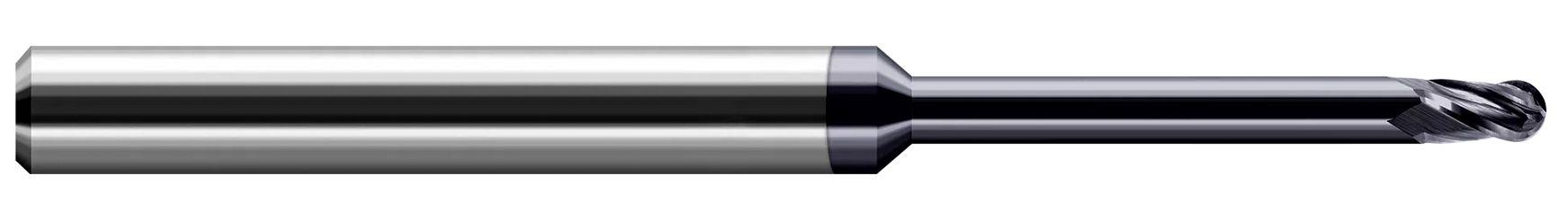 Variable Helix End Mills for High Temp Alloys - Ball - Long Reach, Stub Flute