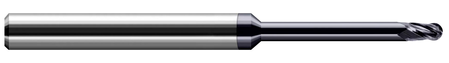 Variable Helix End Mills for High Temp Alloys - Ball - Long Reach, Stub Flute