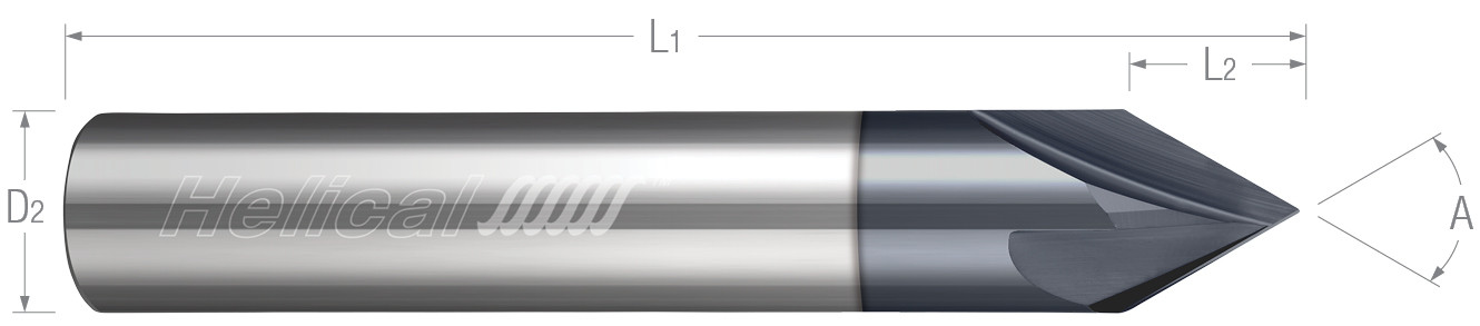 Specialty Profiles - Chamfer Mills - Straight Flute - 2 & 4 Flute