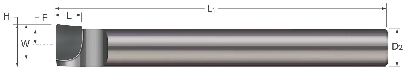 Standard - Boring Tools - Left Hand - Brazed - Corner Radius