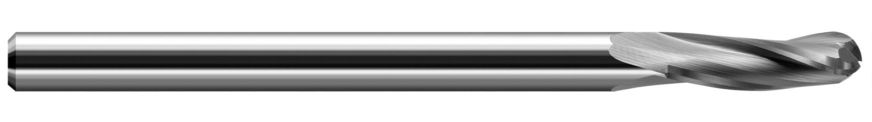 End Mills for Plastics - Finishers - Ball Upcut - 3 Flute - Slow Helix