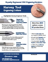 Harvey Tool Flyer Engraving Cutters