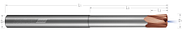 High Feed End Mills - Steels up to 45 Rc - Metric - Variable Pitch - Coolant Through - Reduced Neck