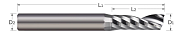 End Mills for Aluminum Alloys - Square - Single Flute - Upcut Router