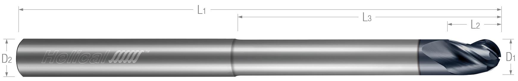 3 Flute, Ball - Reduced Neck (Aplus)