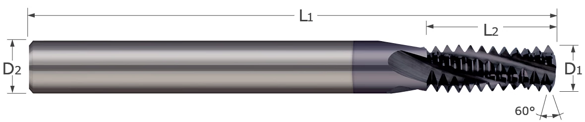 Thread Milling Cutters - Multi-Form - NPTF Threads