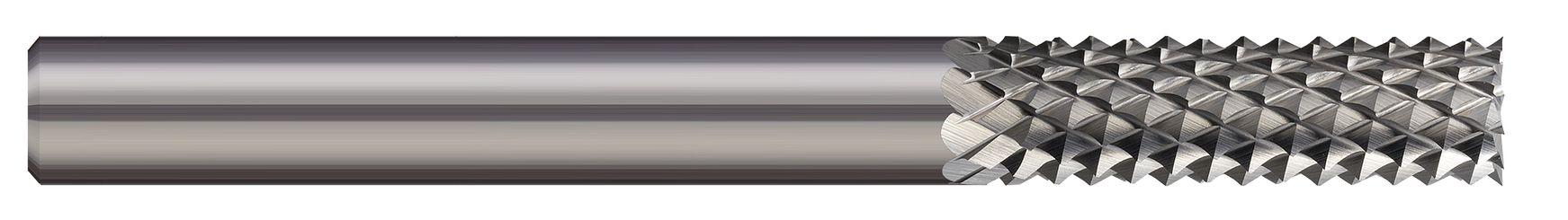 End Mills for Plastics & Composites - Diamond Cut - Burr End Cut