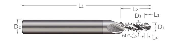 Combination Drill/Thread Mills