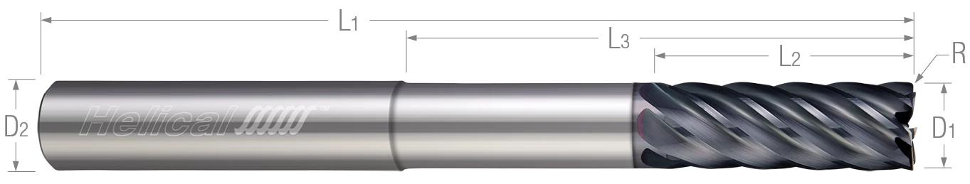 7 Flute - Corner Radius - Variable Pitch - Reduced Neck (Aplus)