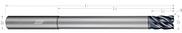 5 Flute - Corner Radius - Variable Pitch - Reduced Neck (Aplus)