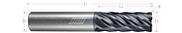6 Flute, Corner Radius - Variable Pitch (Aplus)