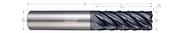 7 Flute, Corner Radius - Chipbreaker Rougher, Variable Pitch (Aplus)