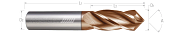 Combination Chamfer / End Mills - 4 Flute - High Performance