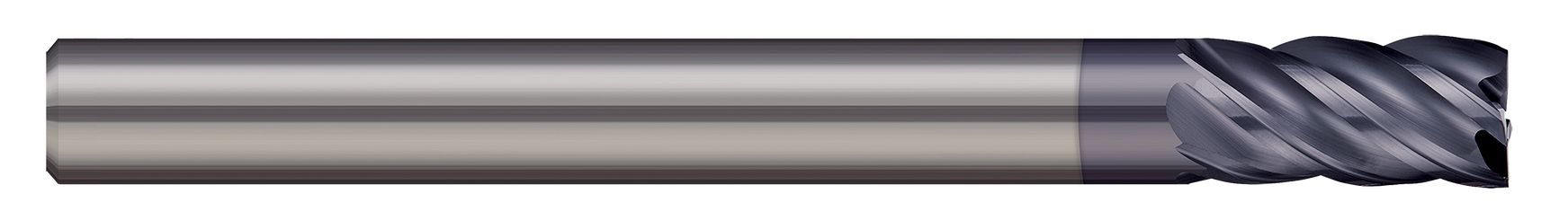 End Mills for Steels & High Temperature Alloys - Square - 5 Flute - Variable Helix