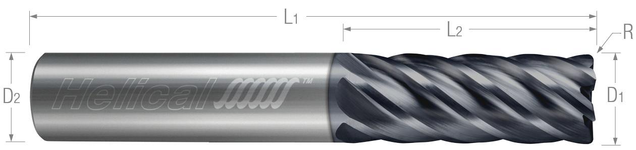 6 Flute, Corner Radius - Variable Pitch - Metric (Aplus)