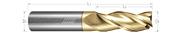 3 Flute, Square - 35° Helix, Metric