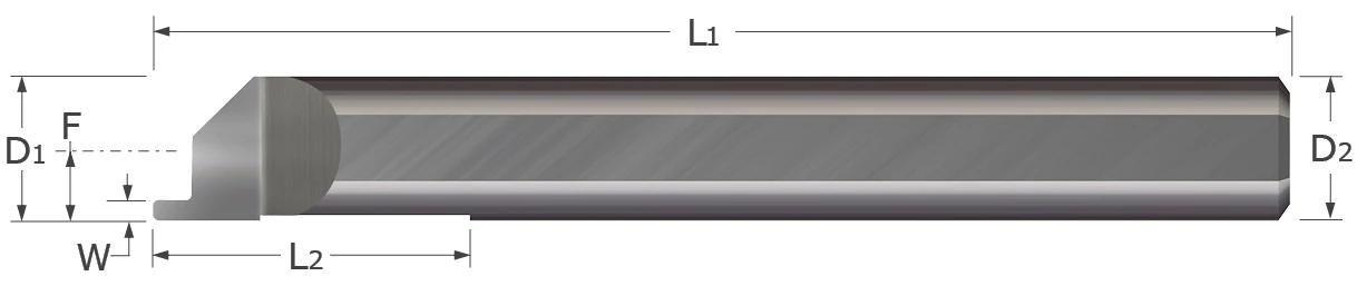 Standard - Grooving Tools - Face Grooving - Corner Radius