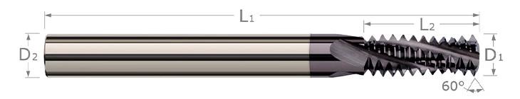 Thread Milling Cutters - Multi-Form - Metric