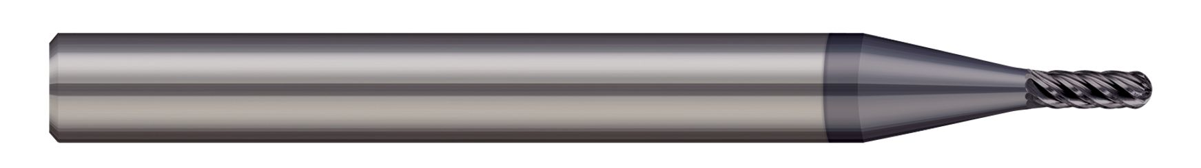 End Mills for Hardened Steels - Ball - For Steels Up to 55 Rc
